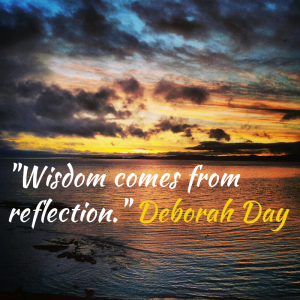 Instaquote sample - Wisdom comes from reflection