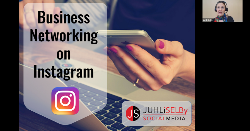 Business Networking on Instagram - Beginner Online Course - Victoria BC