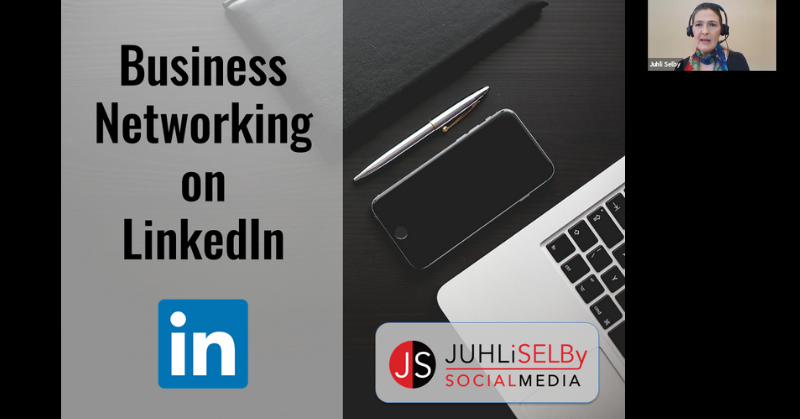 Business networking on LinkedIn live online course with Juhli Selby